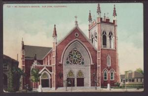 St Patrick's Church,San Jose,CA Postcard