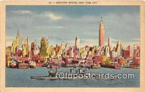 Midtown Skyline New York City Postcard Post Card New York City Midtown Skyline