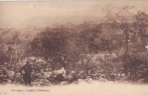 DAHOMEY . 1900-10s , Vue prise a Tandieta