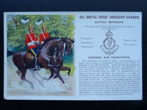 ROYAL IRISH DRAGOON GUARDS History & Traditions c1915 Postcard by Gale & Polden