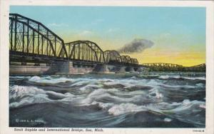 Michigan Soo Salt Rapids & International Bridge Curteich