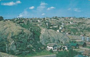 FLIN FLON, Manitoba, Canada, View of the bluff on which the downtown area and...