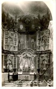 AZ - Tucson. Mission San Xavier, Chapel Interior.  *RPPC