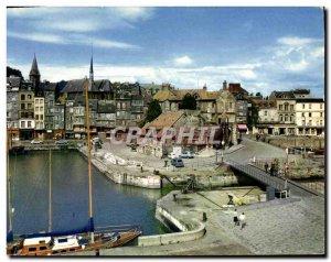Modern Postcard Honfleur Quai Sainte Catherine and Lieutenancy