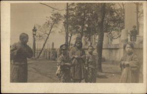 China Japan or Korea Native Children Native Kimonos c1910 Real Photo Card