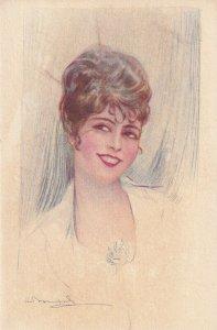 Art Deco ; BOMPARD ; Female Head Portrait , 1910-20s