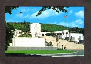 HI Hawaii Gardens of the Missing War Memorial Punchbowl Crater Honolulu Postcard