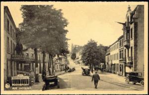belgium, ROCHEFORT, Rue Jacquet, Bureau des Grottes, Cars (1930s)