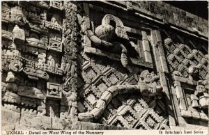 CPA Uxmal Detail on West Wing of the Nunnery MEXICO (598705)