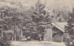 New York Lake Luzerne Hidden Lake Camp Albertype