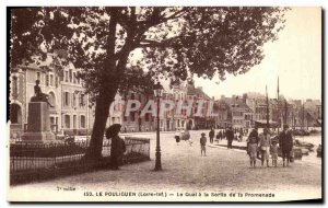 Old Postcard Pouliguen Le Quai The output from the Promenade