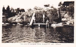 RP: Dock at Wigwam Lodge, KILWORTHY , Ontario , Canada , 30-40s