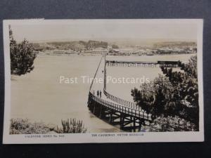 Australia: near ADELAIDE Victor Harbour THE CAUSEWAY c1929 RP by Valentine's