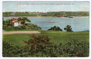 Boat Landing, Peak's Island From Great Diamond Island, Me.