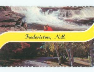 Pre-1980 TWO VIEWS ON ONE POSTCARD Fredericton New Brunswick NB E9191