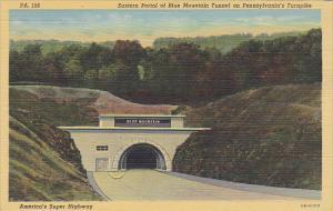 Eastern Portal Of Blue Mountain Tunnel On Pennsylvania Turnpike Curteich