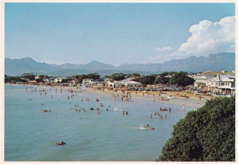 Van Riebeeck Hotel Gordons Bay Beach South Africa Postcard