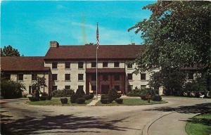 Mitchell Indiana~Spring Mill State Park~Spring Mill Inn~Circle Drive~1960s PC