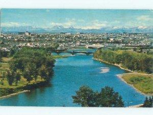 Pre-1980 RIVER SCENE Calgary Alberta AB AE6006