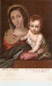 La Virgen de la Servilleta Fine painting vintage Spanish Religious Postcard