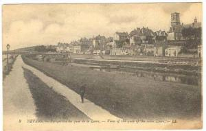 NEVERS , France., 00-10s Quay of the River Loire