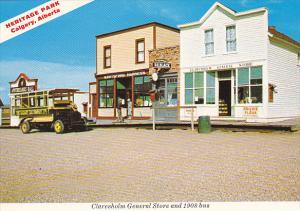 Canada Alberta Calgary Claresholm General Store and 1908 Bus Heritage Park