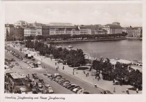 Germany Hamburg Juengfernstieg und Neuer Juengfernstieg