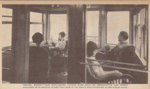 BURLINGTON Railroad Pullman Lounge Cars 1910s #2