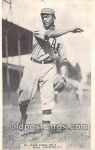 Baseball Postcard Base Ball Post Card Frank Baker Reprint 1974, Phila Athlect...