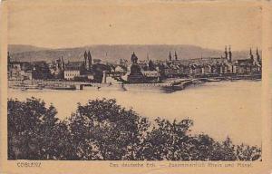 Das Deutsche Eck.- Zusammenfluss Rhein Und Mosel, Coblenz (Rhineland-Palatina...
