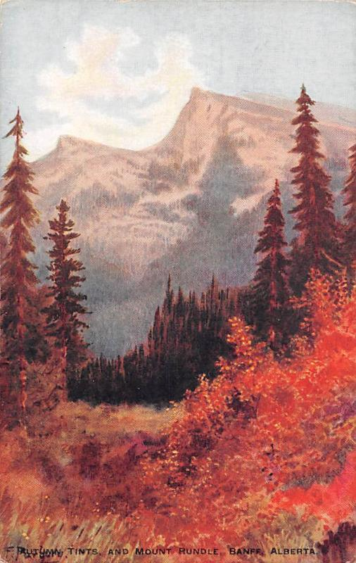 Canada Alberta Banff National Park, Autumn Tints, and Mount Rundle