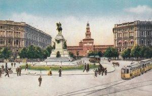 MILANO, Lombardia, Italy, 1900-1910's; Largo Cairoli e Mon. a Garibaldi