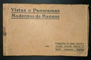 Vintage Vistas e Panoramas Manaos Brazil 17 Postcard Book Real Picture Postcards