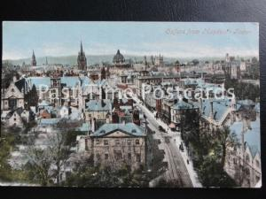 Old PC - Oxford from Magdalen Tower - showing roof top view across Oxford