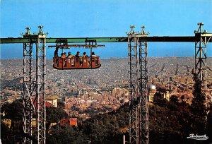 Ferrocarril aereo Barcelona Spain 1973