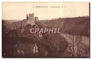 Postcard Old Castle Crozant General view