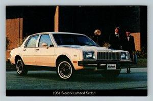 Automobiles - 1981 Buick Skylark Limited Sedan 4-Door Hardtop, Chrome Postcard