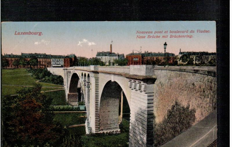 LUXEMBOURG; New Bridge and Boulevard of Viaduct, 00-10s
