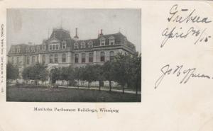 Manitoba Parliament Buildings, Winnipeg, Manitoba, Canada, 1905
