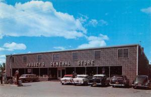 Windsor Maine Husseys General Store Street View Vintage Postcard K107717