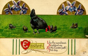 Greeting - Easter. Chicks   (crease)