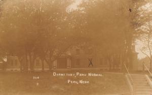 Peru NE Our Dormitory Room @ Normal School RPPC 1912 Willie Dosha, Fort Crook NE