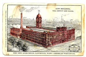 MA - Lawrence. The New Ayer Mills, American Woolen Company