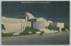 Washington DC~National Galley Of Art IN Nationals Capitol At Night~Vintage PC