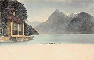 CHAPELLE de WILLIAM TELL~SWITZERLAND NATIONAL HERO~TINTED PHOTO POSTCARD