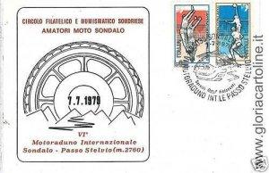 02375 CARTOLINA D'epoca: RADUNO MOTOCICLISMO SONDALO 1979