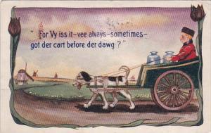 Dutch Boy In Milk Cart For Vy Iss It Vee Always Sometimes Got Der Cart Before...
