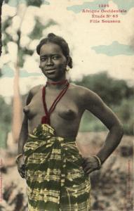 CPA Senegal Ethnic Nude Fortier - 1386. Étude N 65 Fille Soussou (70913)