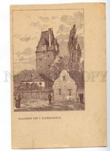 172217 CZECH Hradebni vez Budejovicich Advertising ZLATA PRAHA