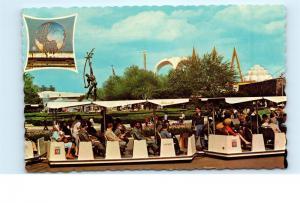 1964 Glide-A-Ride Rocket Thrower New York Worlds Fair Train Vintage Postcard C69